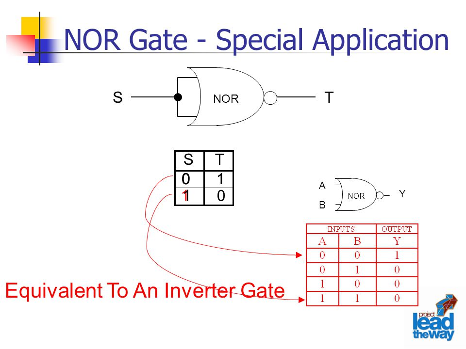NOR Gate - Special Application