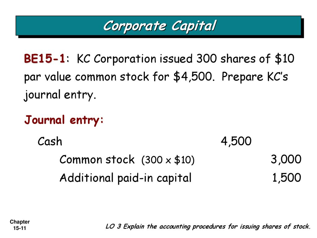 C H A P T E R 15 STOCKHOLDERS' EQUITY - ppt download