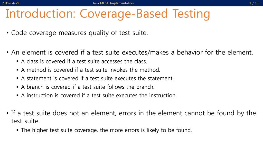 Java Code Coverage Tools - EclEmma and JaCoCo - ppt download