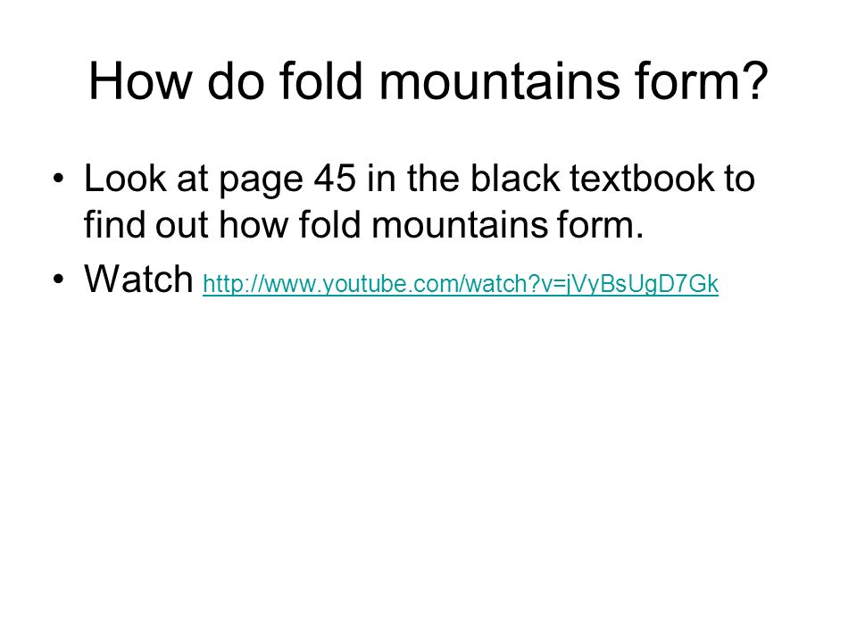 How do fold mountains form