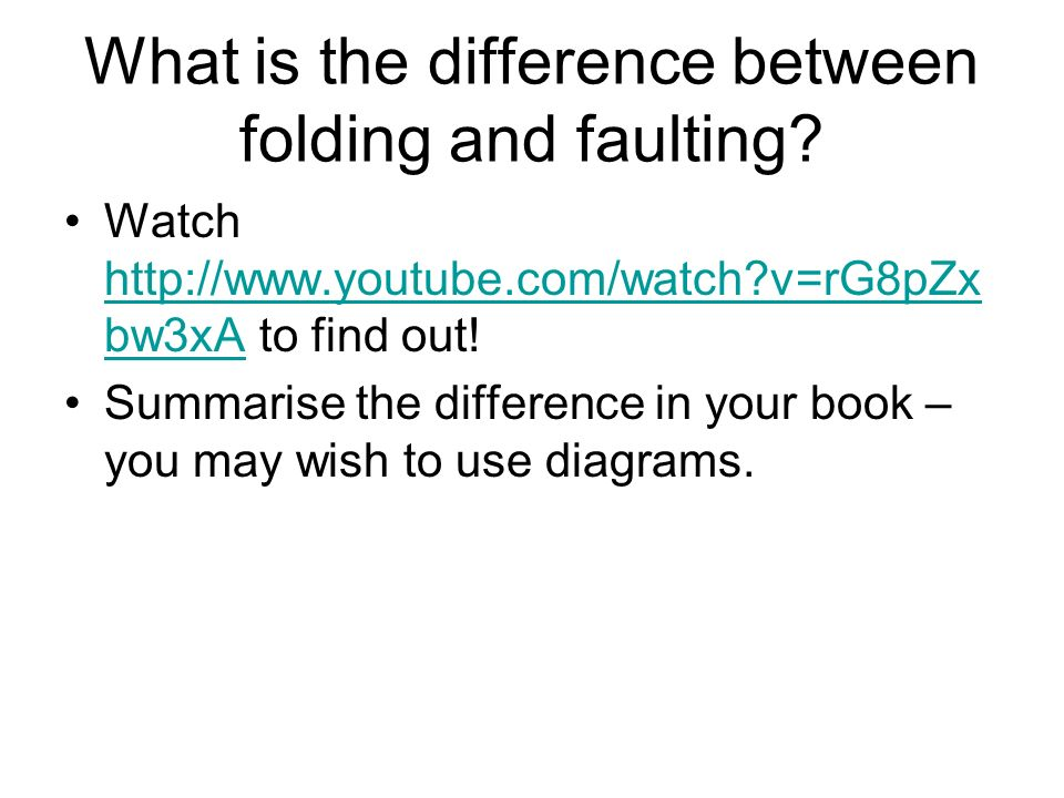 What is the difference between folding and faulting