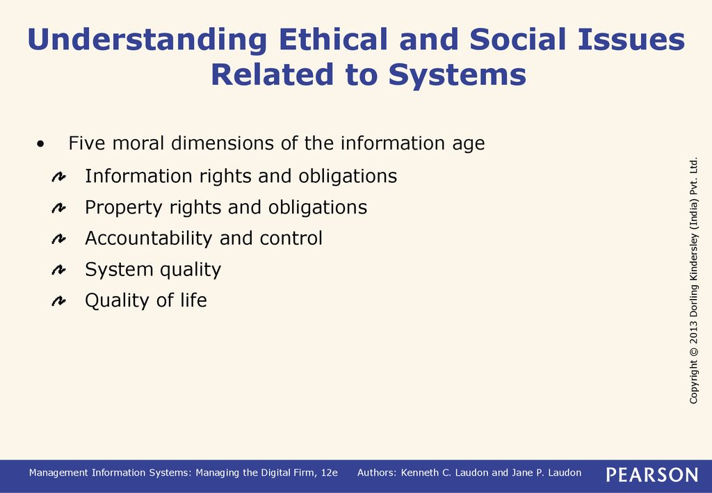 Ethical and Social Issues in Information Systems - ppt download