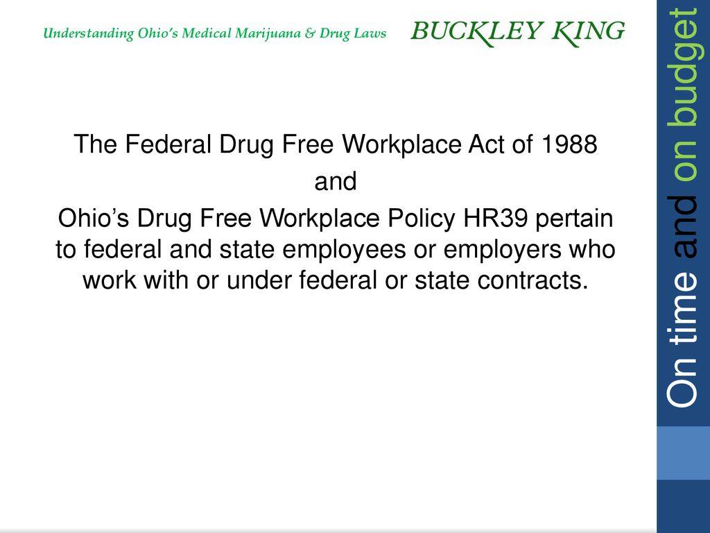 Ohio's Medical Marijuana Laws and Workplace Drug Policies
