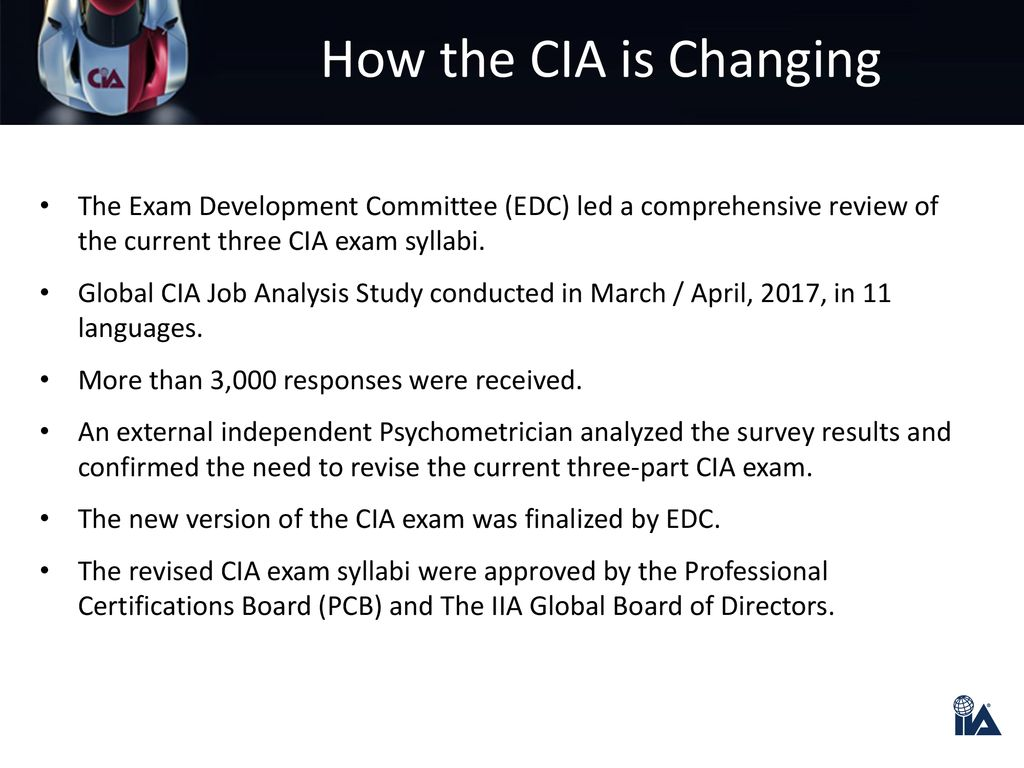 CIA Exam Syllabi Change - ppt download