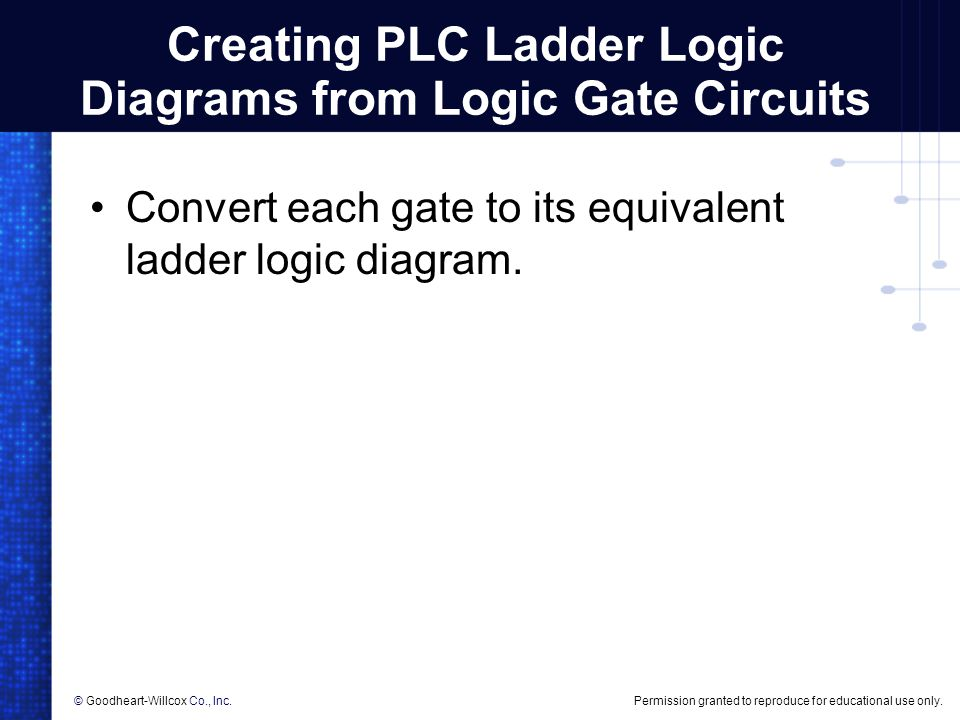Programming logic gate functions in plcs ppt video online download creating plc ladder logic diagrams from logic gate circuits ccuart Images