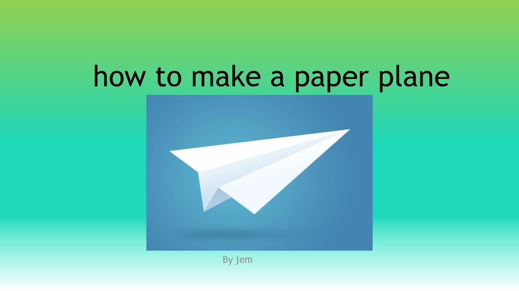 Paper Airplane Paper Plane | PowerPoint Presentation Sample ... | 576x1024