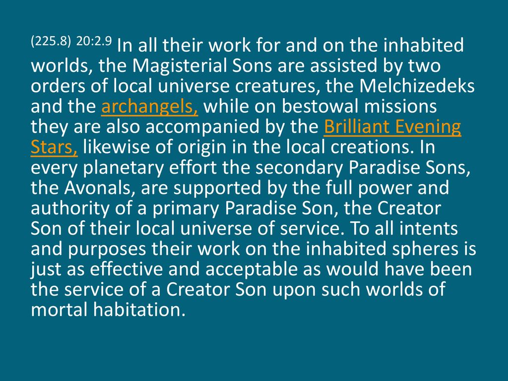 Paper 20 The Paradise Sons of God - ppt download