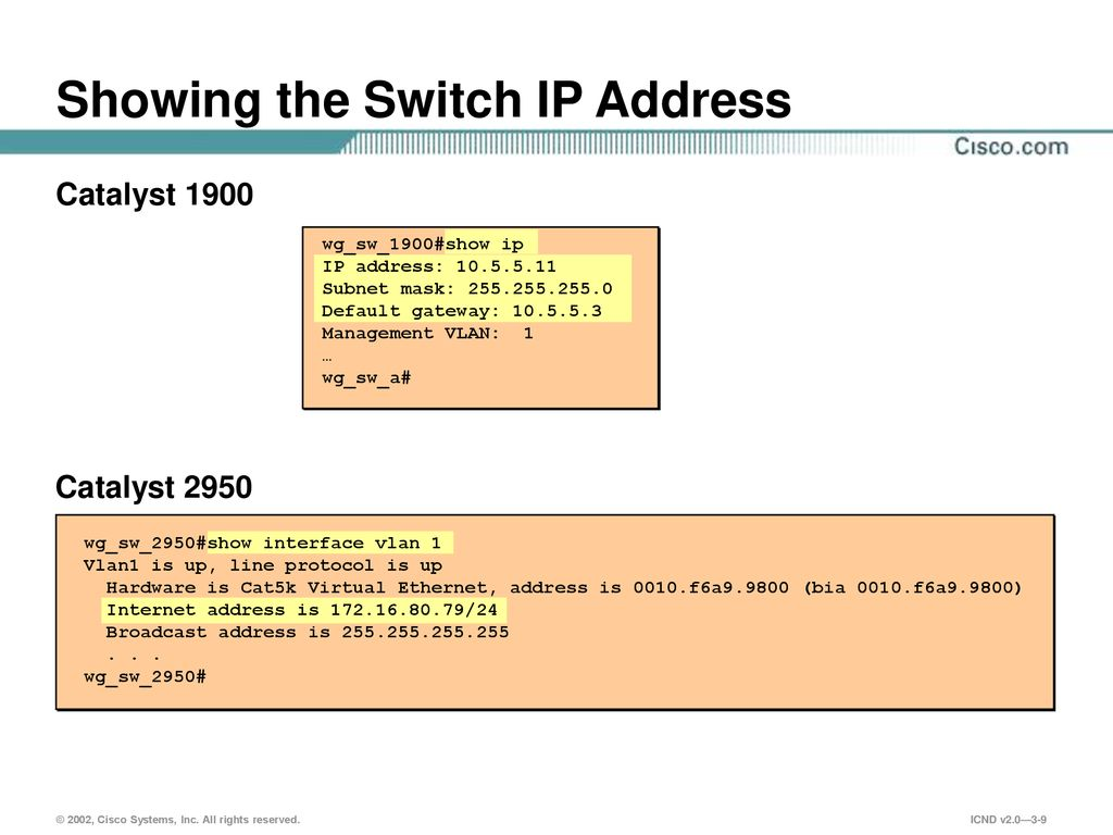 How To Change Ip Address Of Cisco 2950 Switch How to setup a