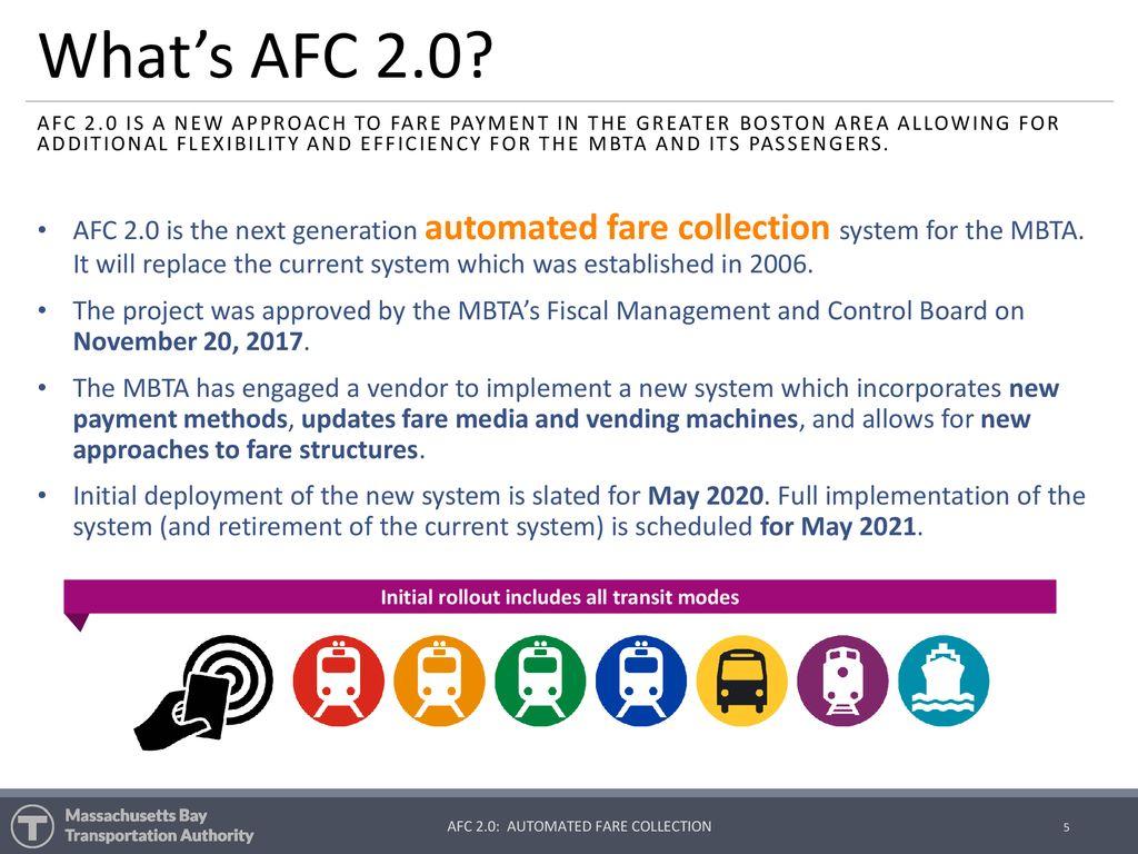 Automated Fare Collection 2 0 Next Generation MBTA Fare