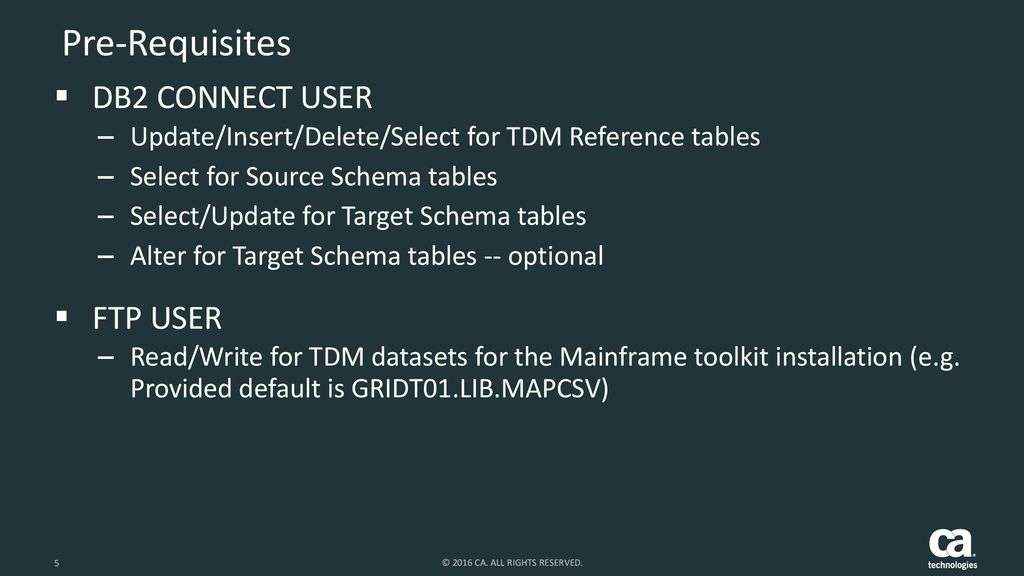 CA Technologies TDM Mainframe Toolkit - ppt download