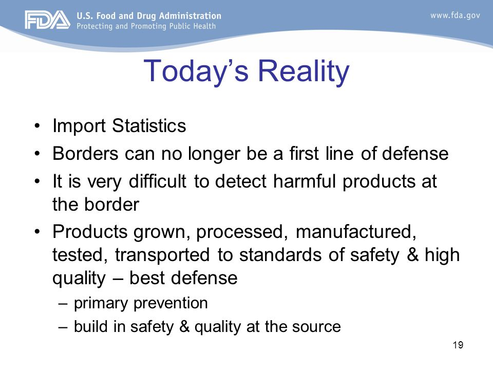 Today's Reality Import Statistics
