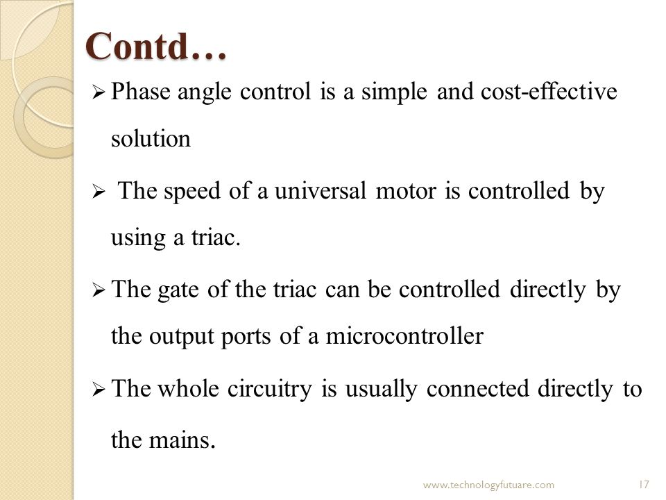 VIEW ON THE CONTROL ASPECTS OF UNIVERSAL MOTOR - ppt video