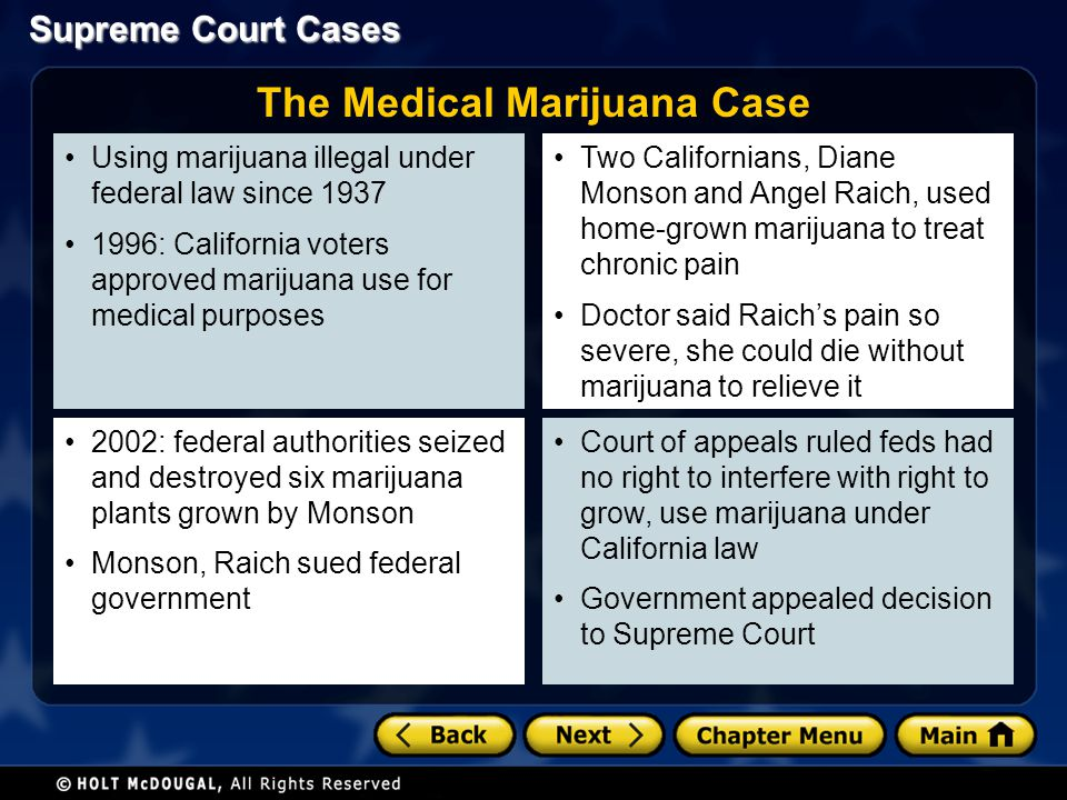 The Medical Marijuana Case