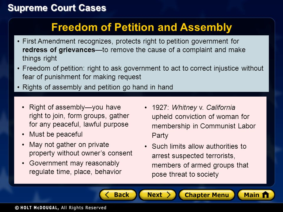 Freedom of Petition and Assembly