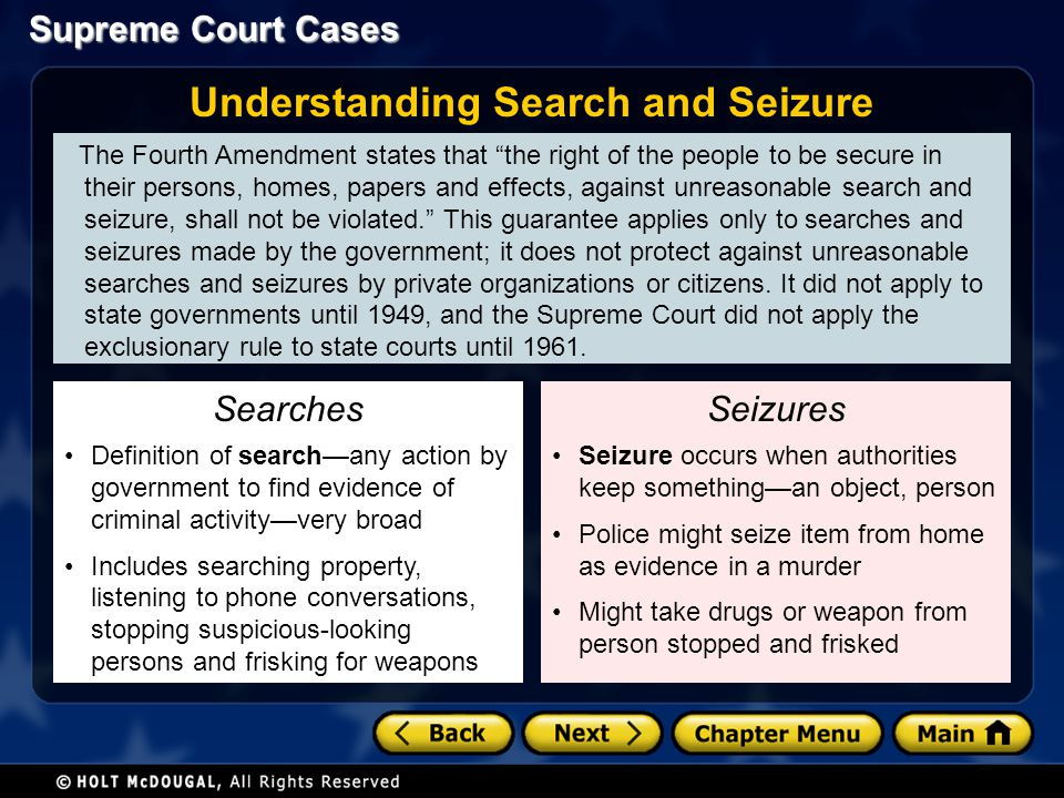 Understanding Search and Seizure