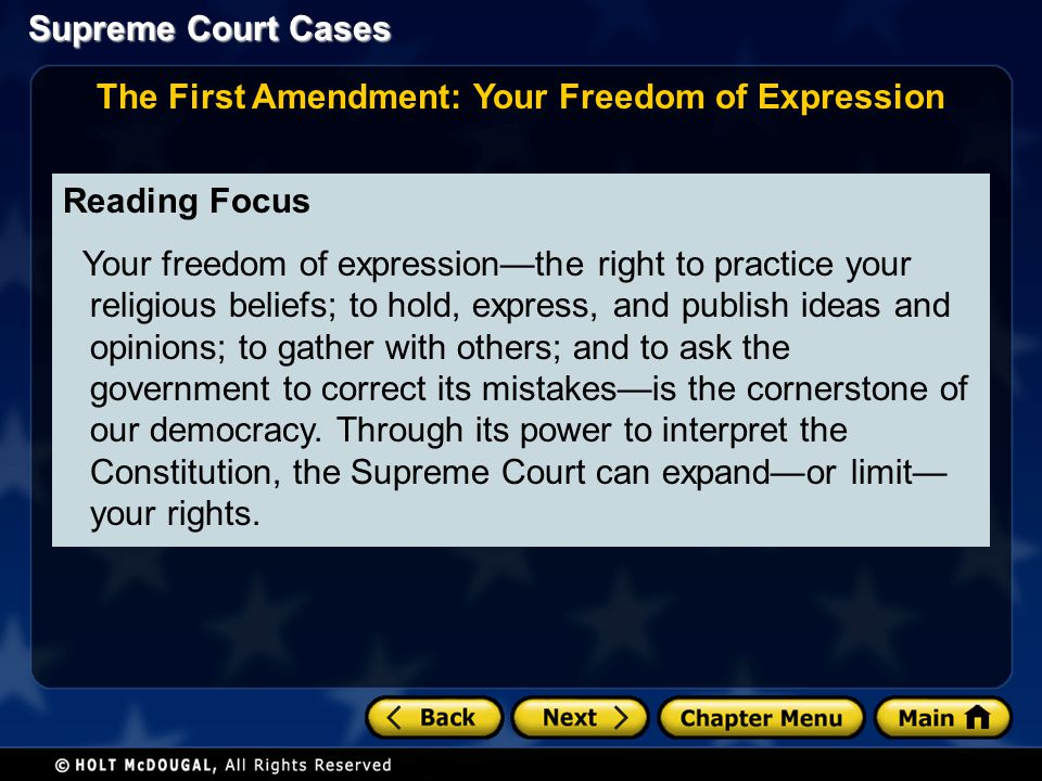 The First Amendment: Your Freedom of Expression