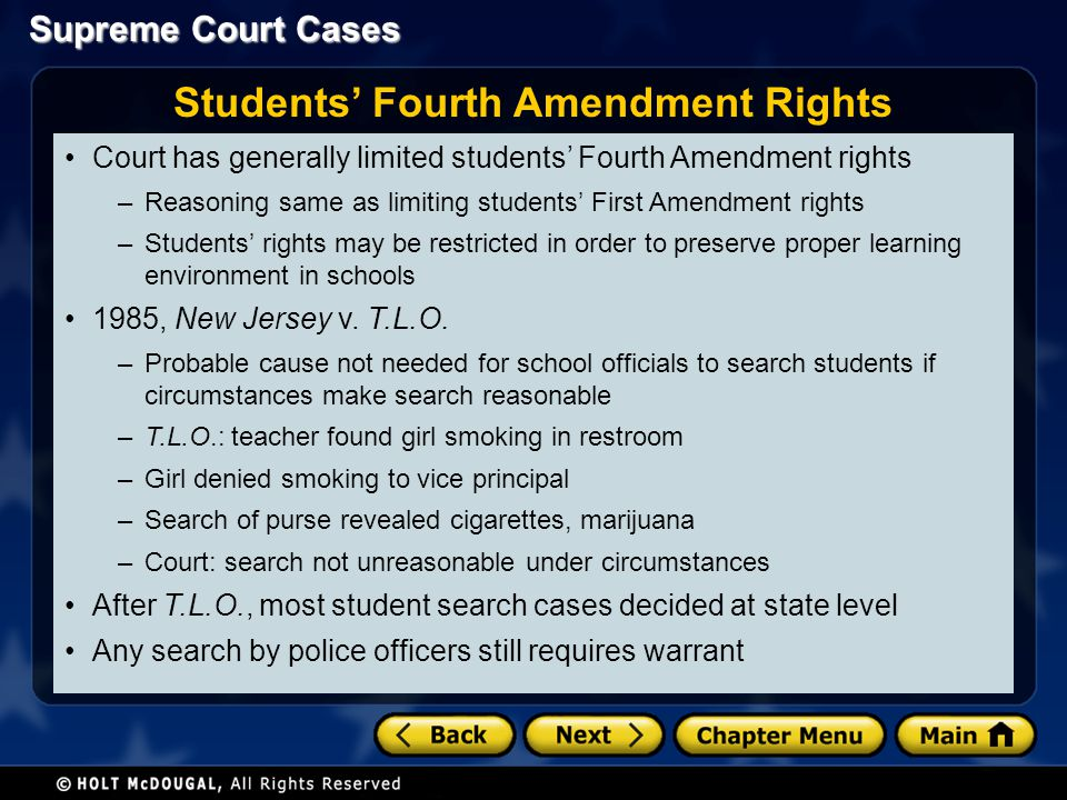 Students' Fourth Amendment Rights