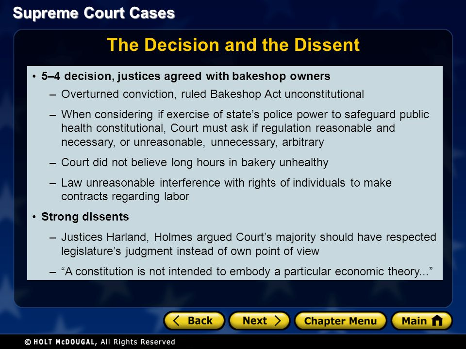 The Decision and the Dissent