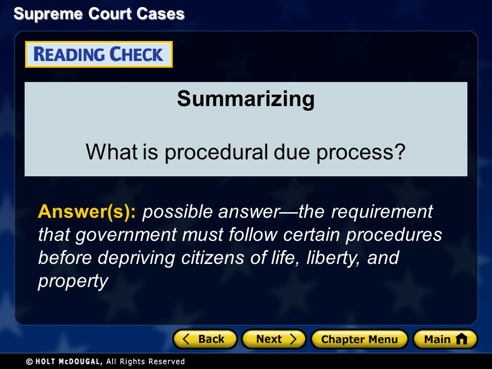 What is procedural due process
