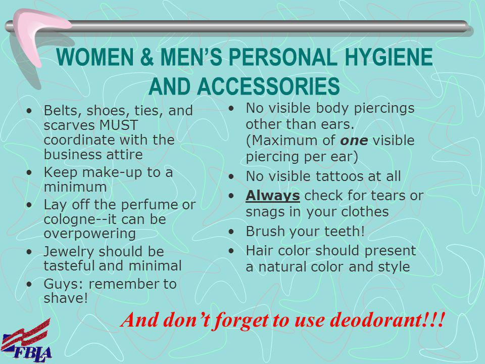 WOMEN & MEN'S PERSONAL HYGIENE AND ACCESSORIES