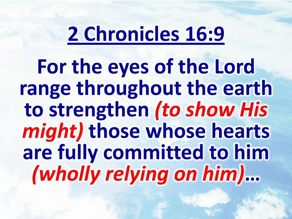 Week 20 Who Do We Rely On 2 Chronicles 14 16 Ppt Download
