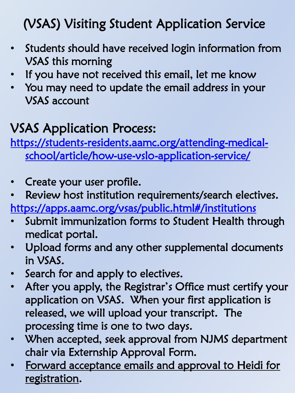 Fourth Year Registration Electives and Externships - ppt download