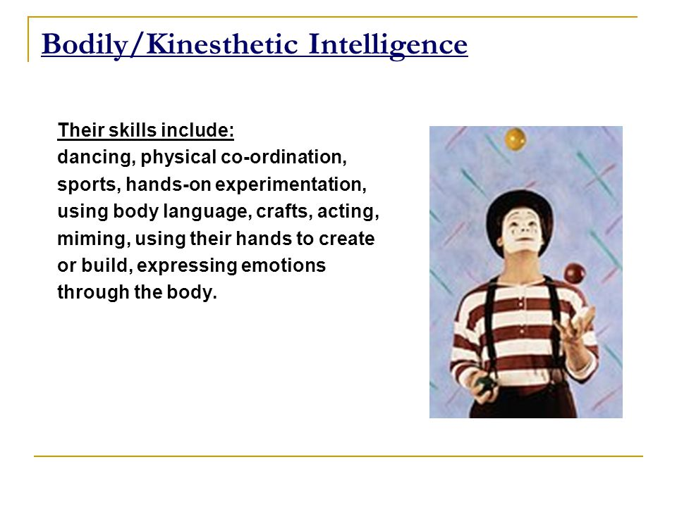kinaesthetic intelligence