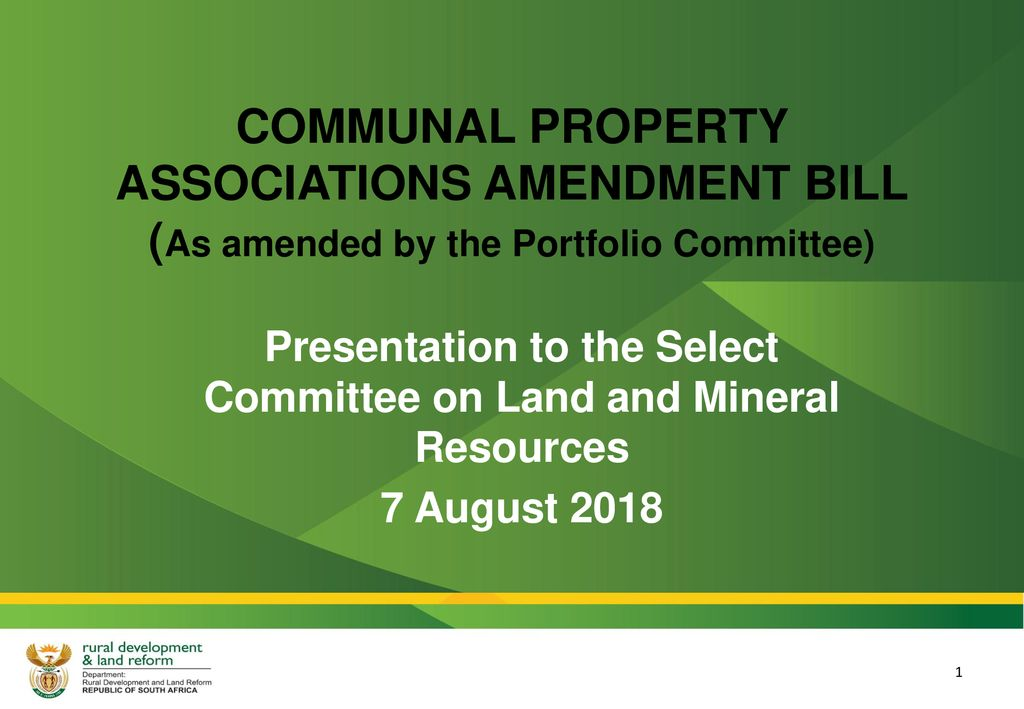 Image result for Communal Property Associations bill 2018