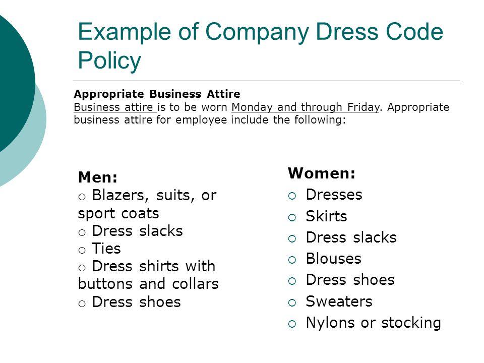 Dress code policy memo   scrumps.