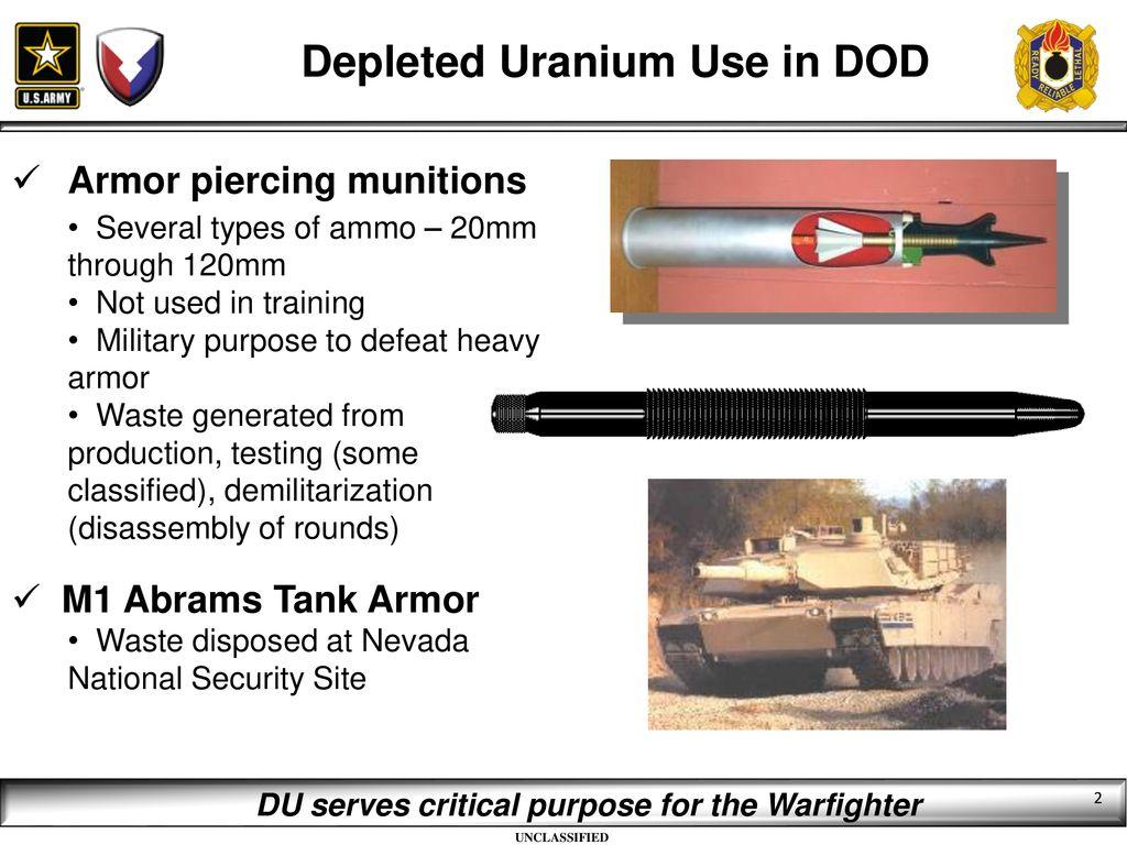 Depleted Uranium Disposal - ppt download