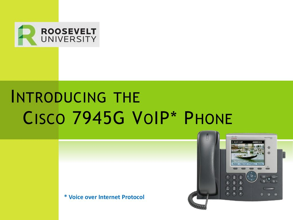 Introducing the Cisco 7945G VoIP* Phone - ppt download