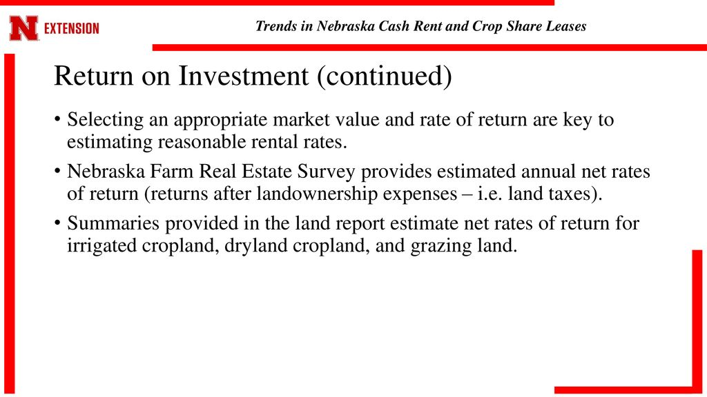 Trends in Nebraska Cash Rent and Crop Share Leases - ppt