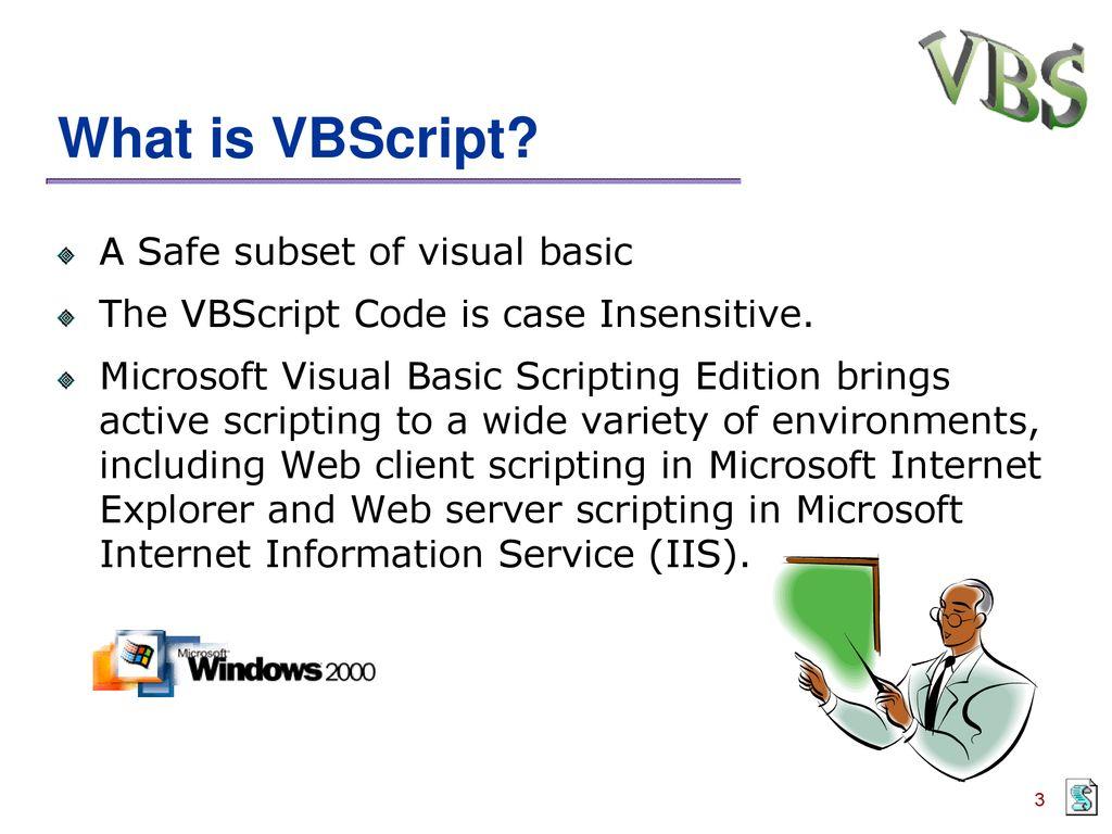 VBScript Session ppt download