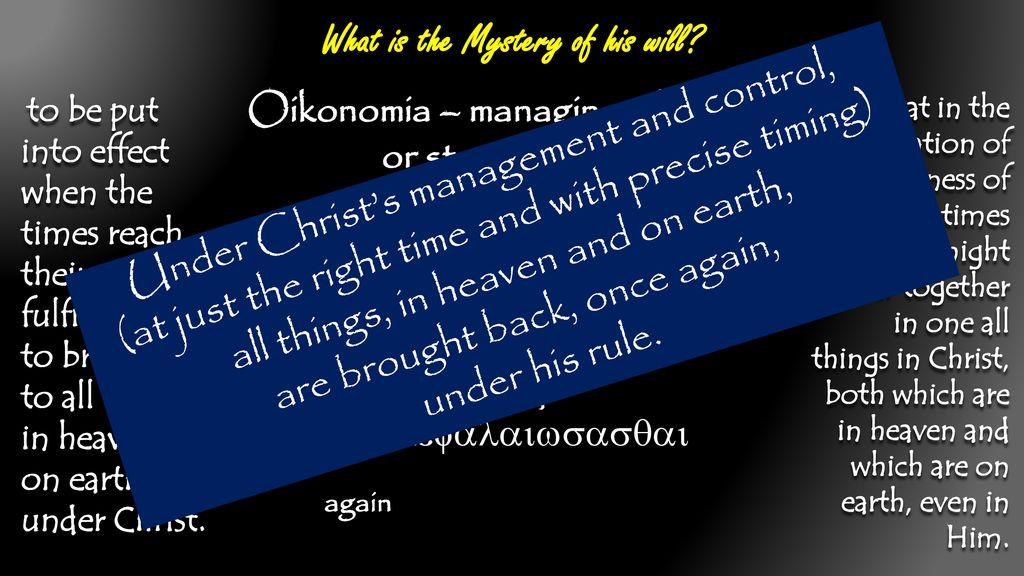 Not An Open Secret Ephesians 1:7-10 UPWARD  - ppt download