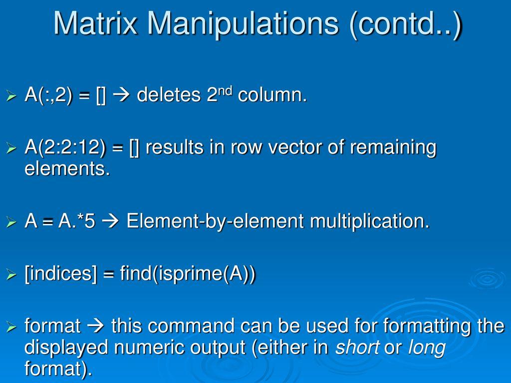 MATLAB stands for MATrix LABoratory  - ppt download