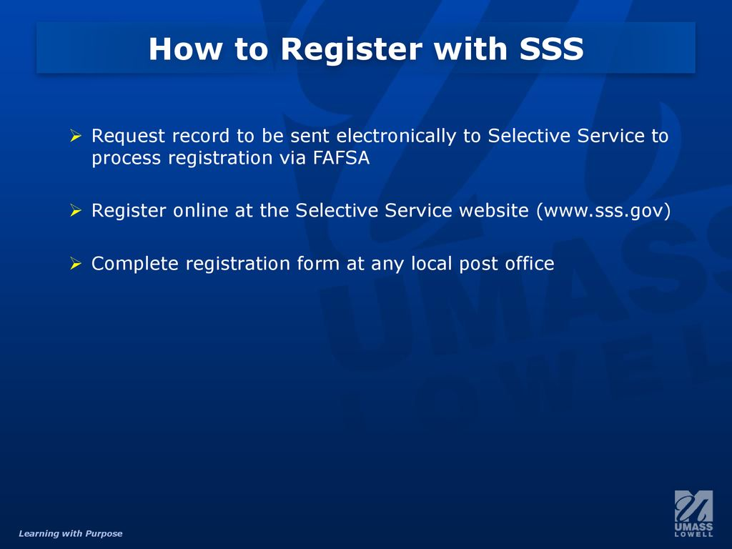 The Financial Aid C Flag Selective Service Process Ppt Download