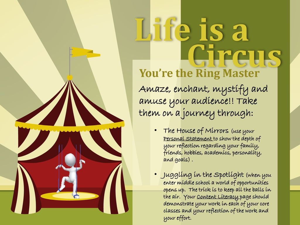 finest selection d3a52 65c58 Life is a Circus You're the Ring Master - ppt download