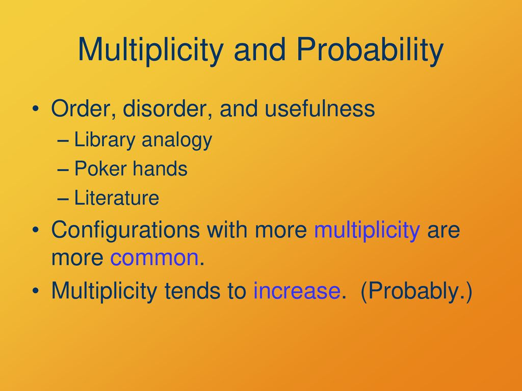 multiplicity probability