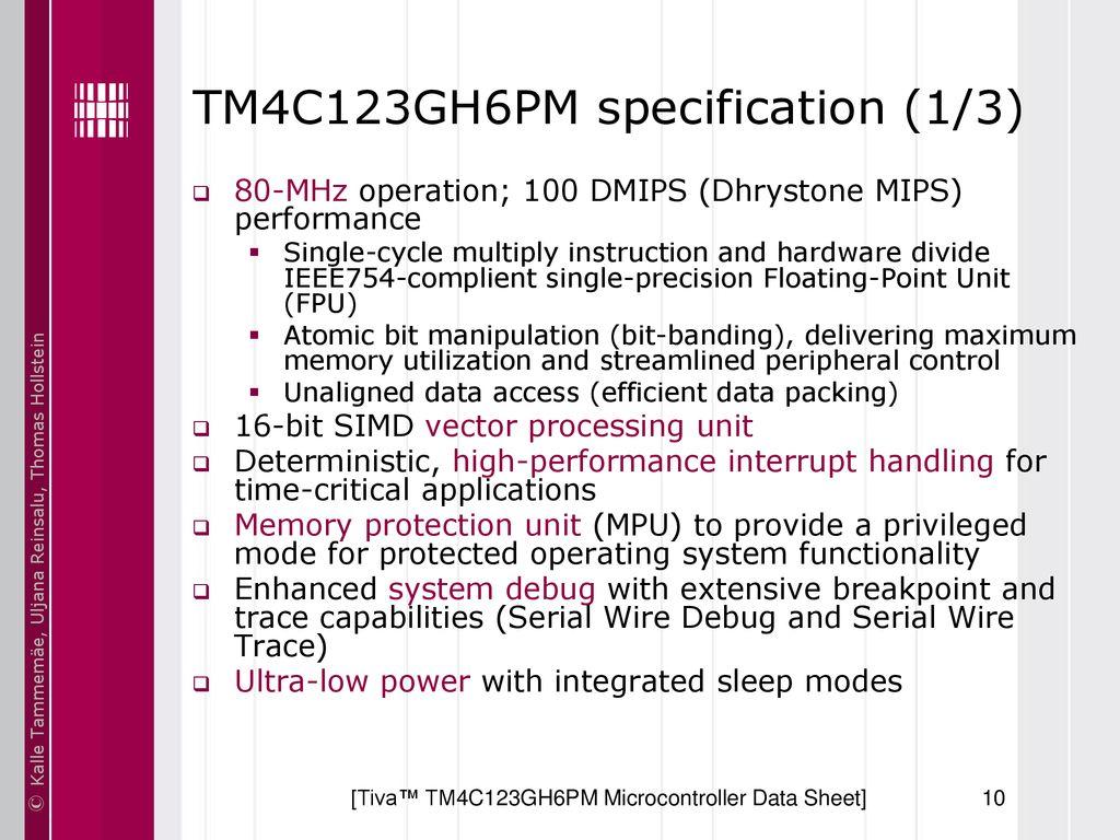Basics of Embedded Systems IAX0230 ARM Cortex-M Architecture