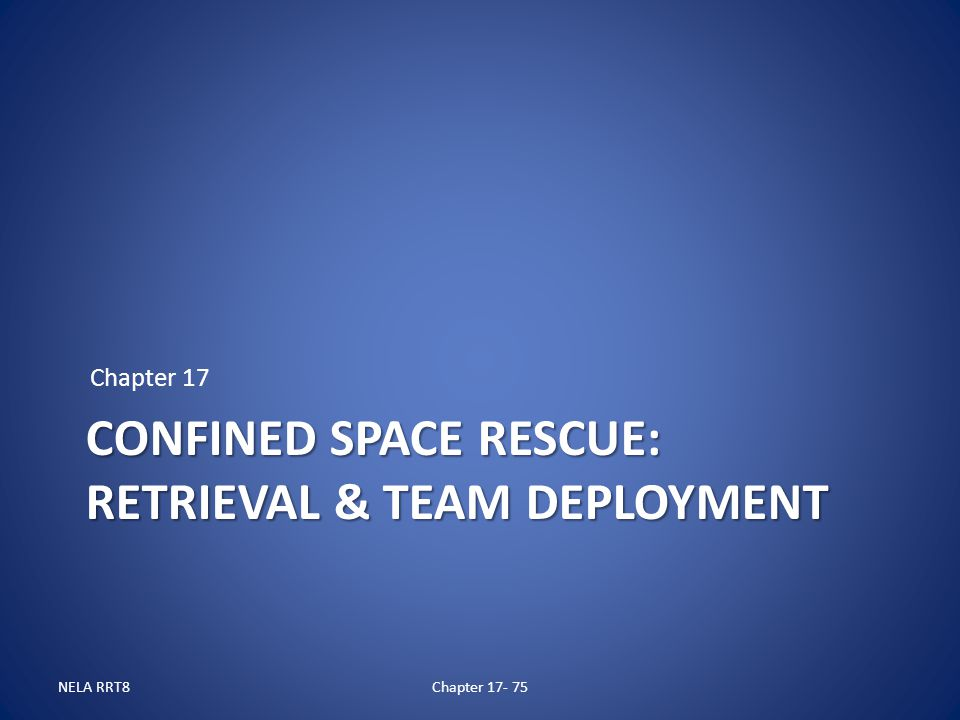 Preview of confined space rescue awareness training presentation.