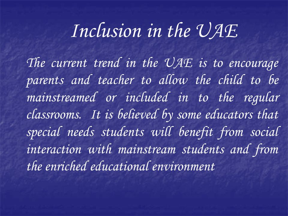 Inclusion in the UAE