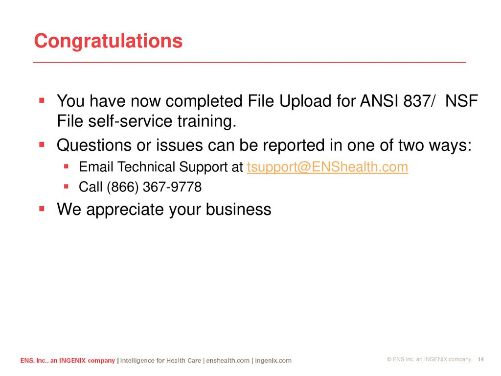 File Upload for ANSI 837/NSF - ppt download