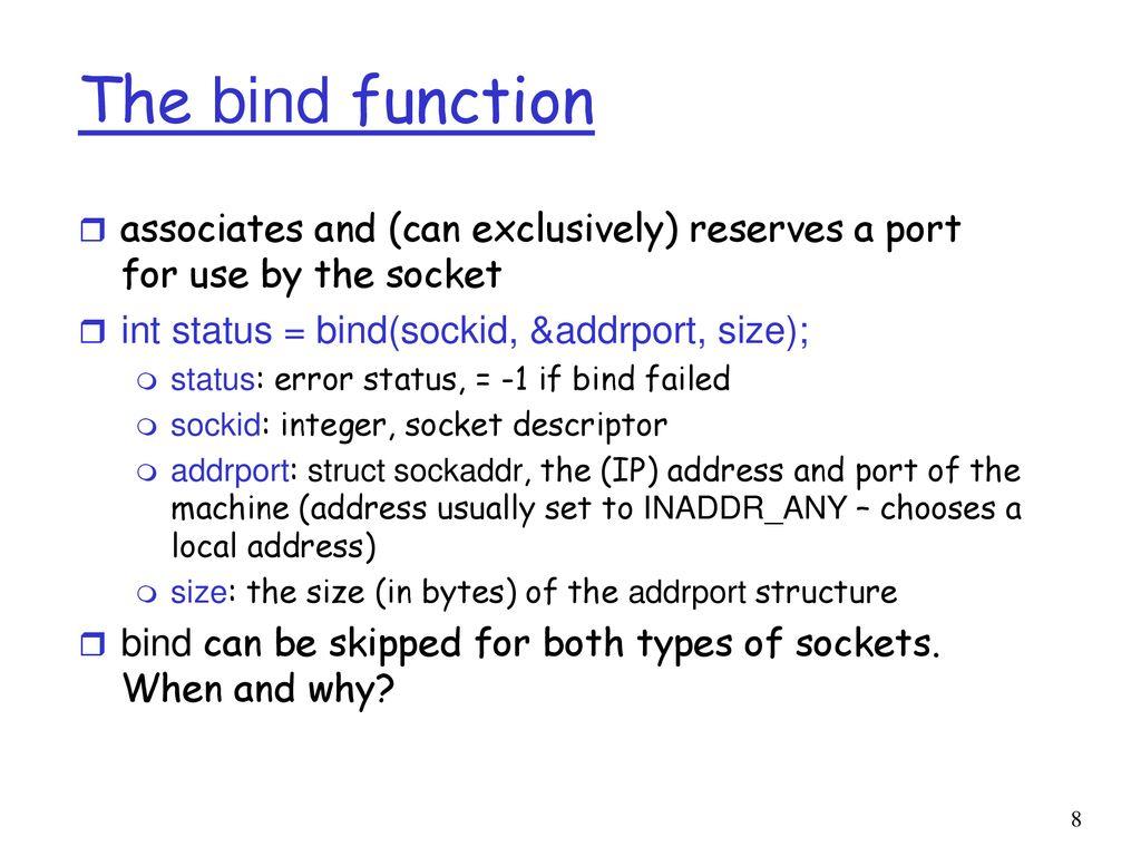 socket bind failed