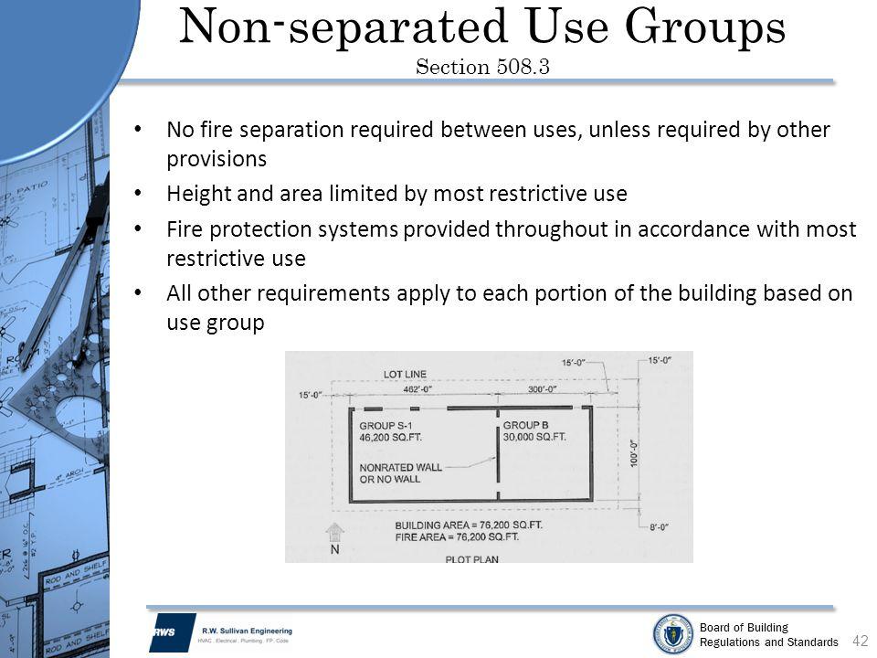 Code Required Separation Between Building