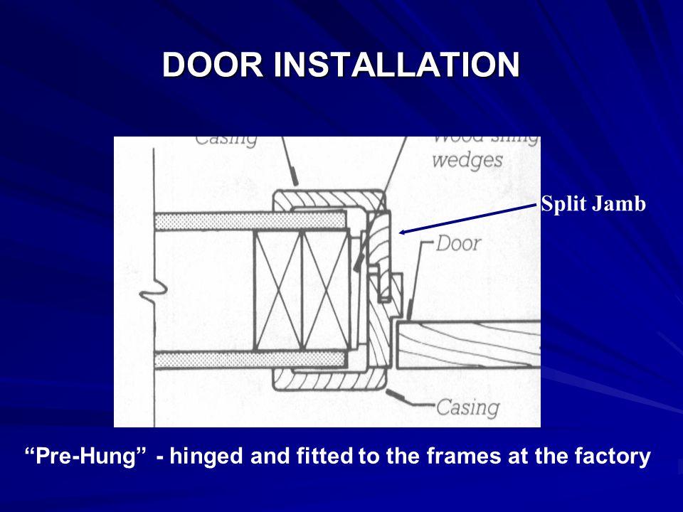 34 DOOR INSTALLATION Split Jamb U201c