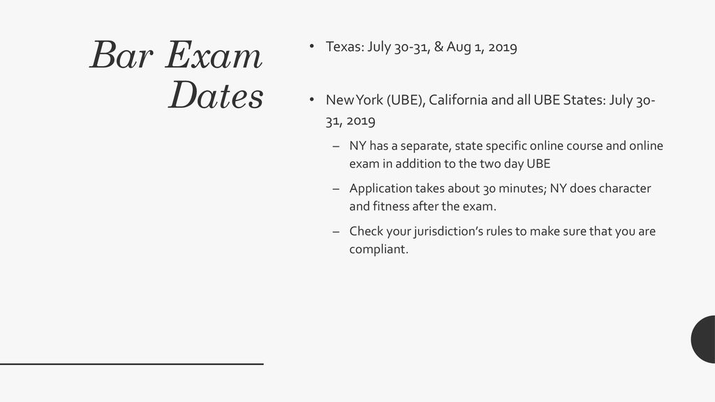 The bar exam is coming  You can do it!  - ppt download