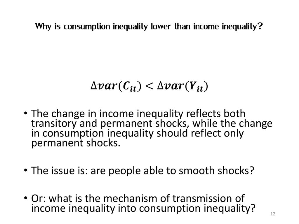Inequality and consumption - ppt download