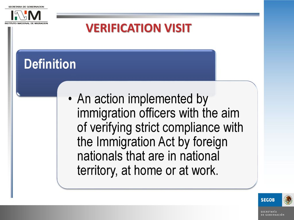 GENERAL DIRECTORATE OF IMMIGRATION CONTROL AND VERIFICATION