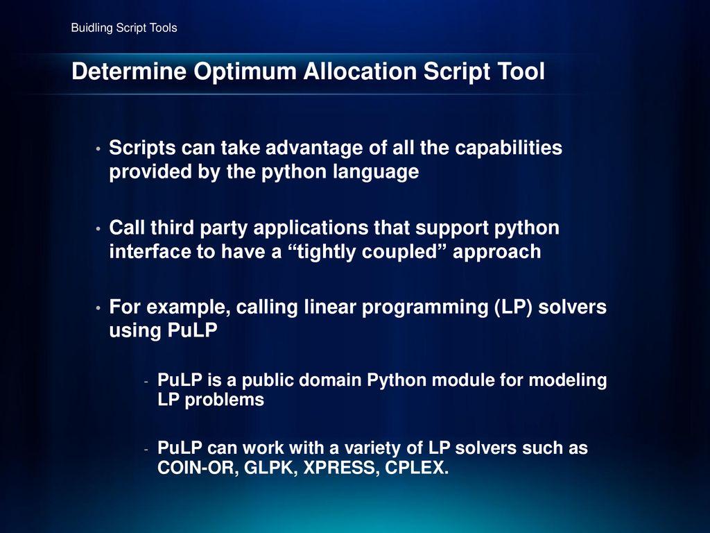 Pulp Python