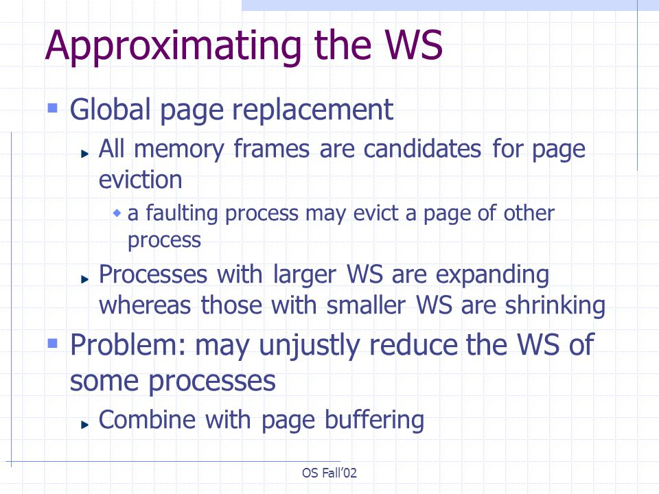 Approximating the WS Global page replacement